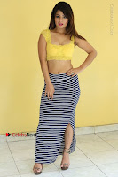 Cute Telugu Actress Shunaya Solanki High Definition Spicy Pos in Yellow Top and Skirt  0141.JPG