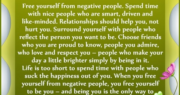 Free Yourself From Negative People Quote: Negative People Sayings And Negativity Quotation
