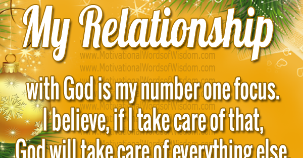 what is my relationship with god