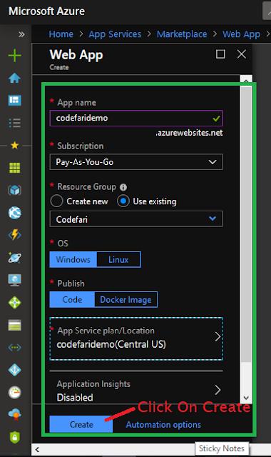 Ready to create Web App-codefari.com