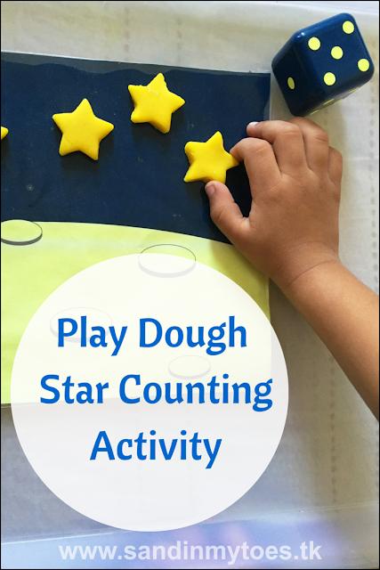 Easy activity with play dough to practice counting - great for toddlers and preschoolers.