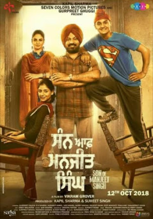Poster Of Pollywood Movie Son of Manjeet Singh 2019 300MB HDRip 480P Full Punjabi Movie