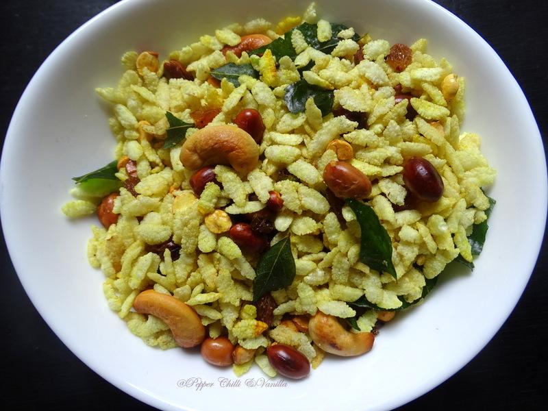crispy crunchy poha chivda ,diwali faral bhajke chivda recipe