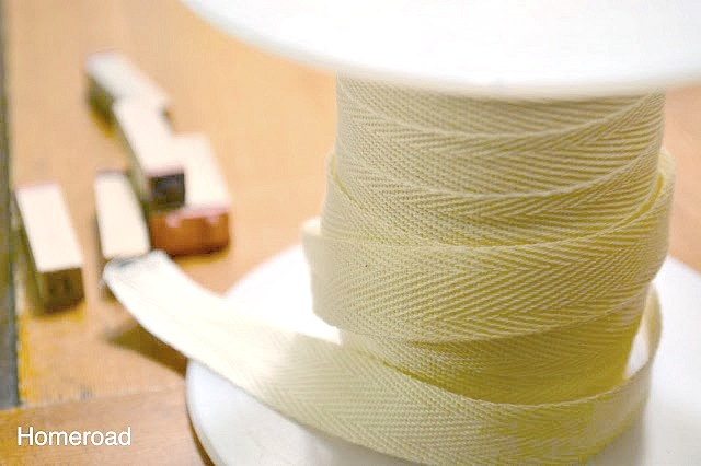 spool of ribbon and stampers