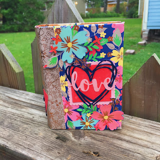 Love book created by Spread Joy Stamping using Affectionately Yours DSP