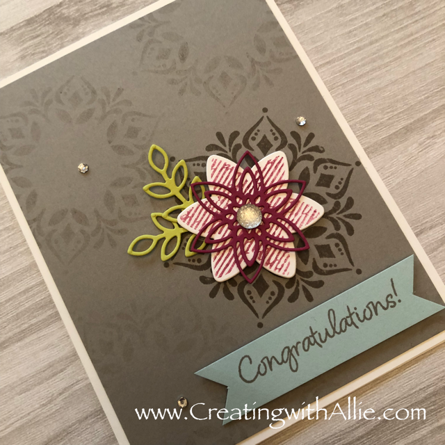 Check out this post to get some tips on how to a beautiful card using the happiness surrounds stamp set!!!  www.creatingwithallie.com #stampinup #alejandragomez #creatingwithallie #videotutorial #cardmaking #papercrafts #handmadegreetingcards #fun #creativity #makeacard #sendacard #stampingisfun #sharewhatyoulove #handmadecards #friendshipcards