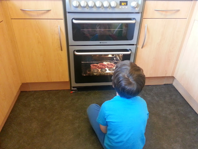 Watching the Eggs Bake in the Oven.