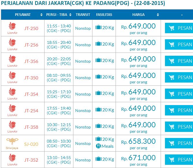 Update Tiket Pesawat Murah Dari Jakarta Ke Padang Riris888travel
