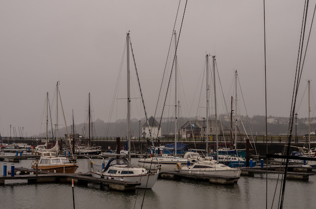 Photo of grey conditions at Maryport Marina on Sunday