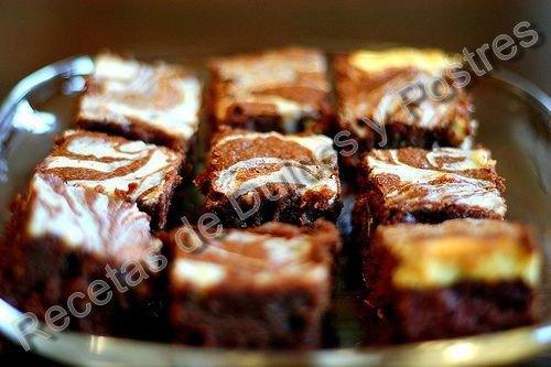 RECETA DE BROWNIES DE CHOCOLATE Y QUESO