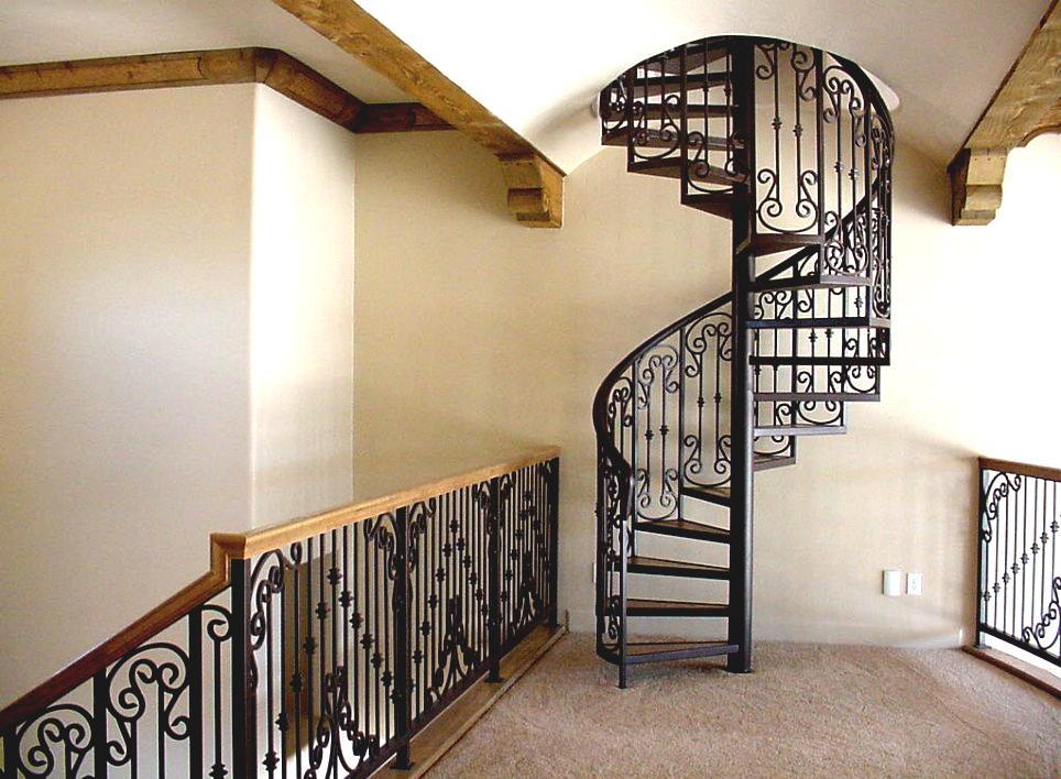 Mild Steel Spiral Stair Case Outdoor Design For Modern Home