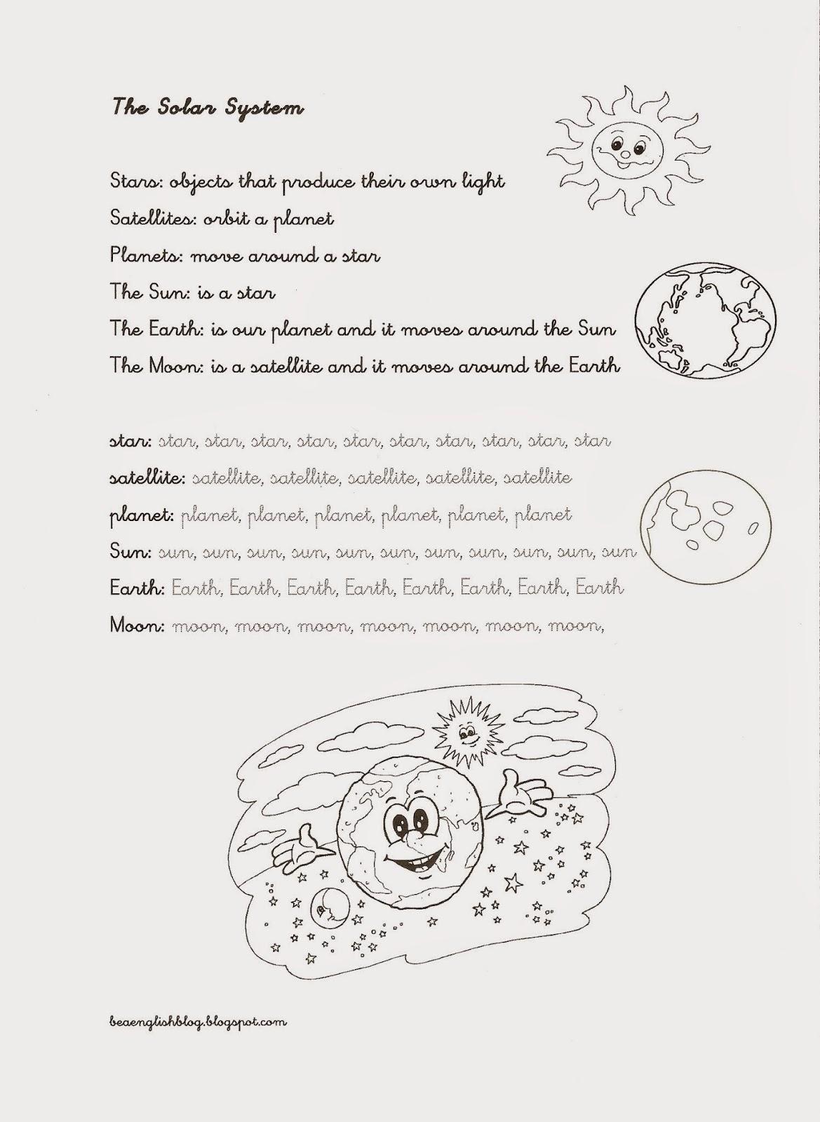 Milaenglish Blog The Solar System