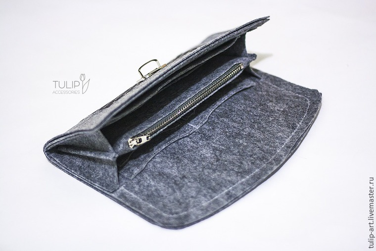 Wallet sewing pattern / tutorial, felt wallet pattern. DIY Photo Tutorial