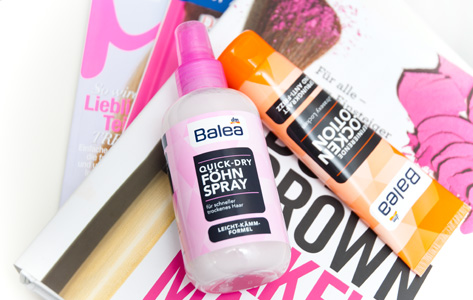 Balea Hairstyling Locken Lotion Föhn Spray