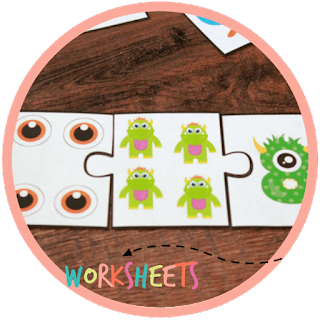 monster math puzzles