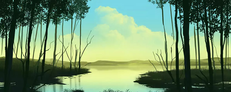 swamp scene painting