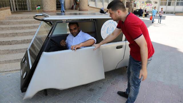 Palestina: Un coche solar para eludir el bloqueo de combustible israelí