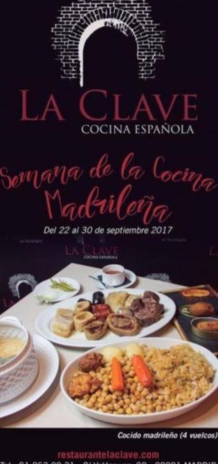 Semana de la cocina madrile a en la clave for Cocina 1 dia para toda la semana