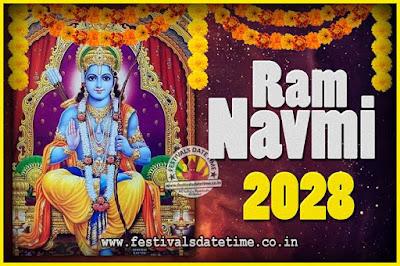 2028 Ram Navami Pooja Date & Time, 2028 Ram Navami Calendar