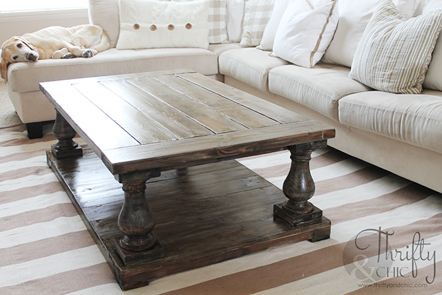DIY Balustrade Farmhouse Coffee Table - Thrifty And Chic - DIY Projects And Home Decor