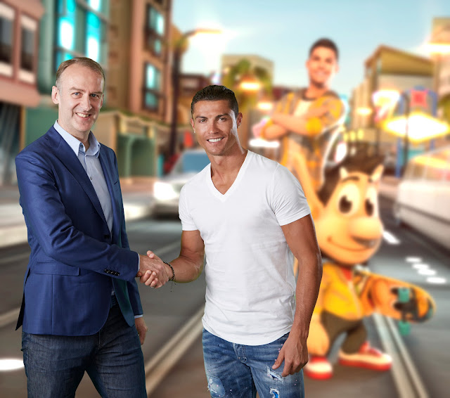 Cristiano Ronaldo and Hugo join forces in new mobile game called Ronaldo&Hugo: Superstar Skaters