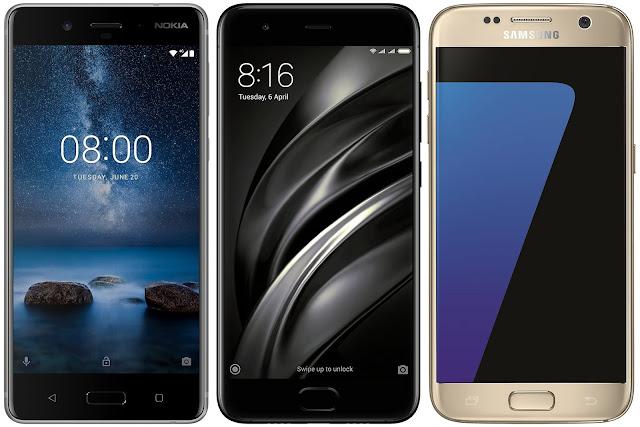 Nokia 8 vs Xiaomi Mi 6 vs Samsung Galaxy S7