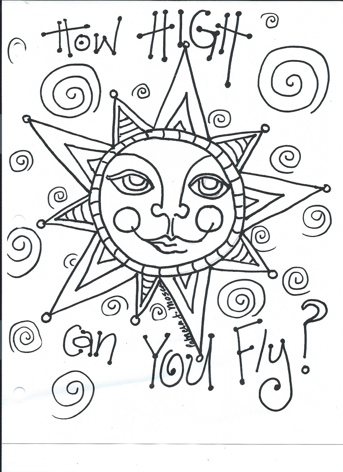 The Creative Playground: Good day Sunshine...coloring book