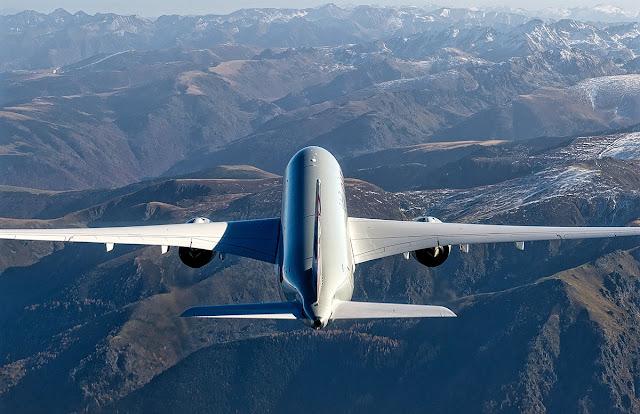 a350-1000 qatar rear view