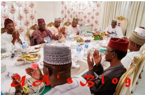 Just in: Buhari in closed-door meeting with APC governors