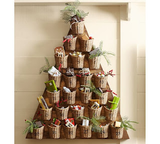pottery barn tree advent calendar