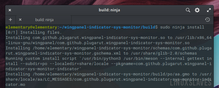 Install Wingpanel System Monitor Indicator in Elementary OS Juno