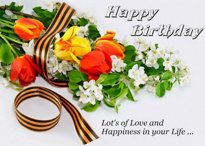 Happy Birthday wishes quotes for husband: lot's of love and happiness in your life