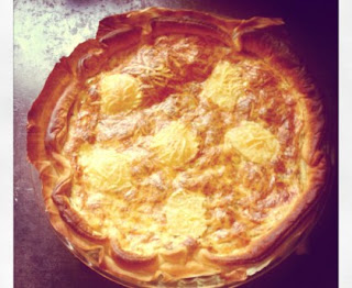 Goat and onion pie