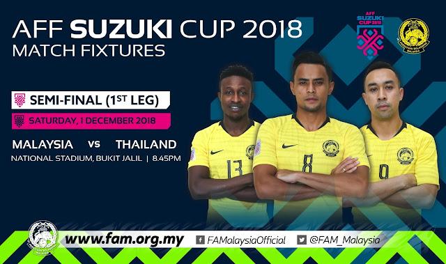 Malaysia Bertemu Dengan Thailand di Semi Final AFF Suzuki 2018