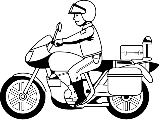 Desenhos De Motos De Policia Para Colorir