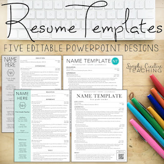 Simply Creative Teaching Teacher Resume Tips Tricks