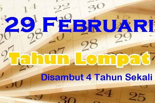 29 februari (tahun lompat) disambut 4 tahun sekali, maksud tahun lompat 29 februari menurut wikipedia, gambar tahun lompat 29 februari
