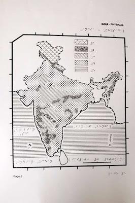 Indijos žemėlapis Brailio raštu