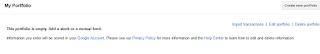 Portfolio de Google Finance