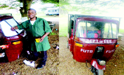 FUTO Student Produces Solar Powered Tricycle
