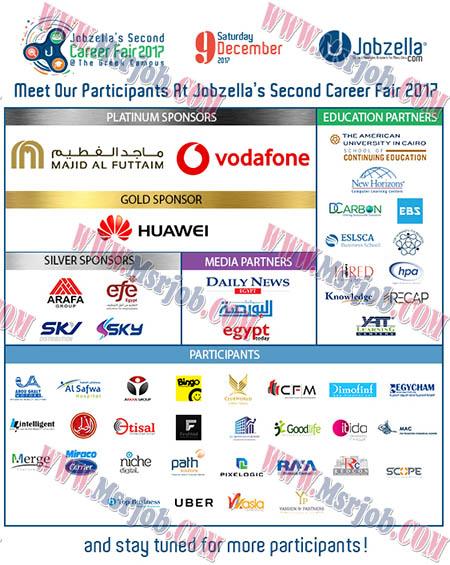 فرصة للشباب ايفينت Jobzella بحضور كبري الشركات يوم 9 ديسمبر 2017