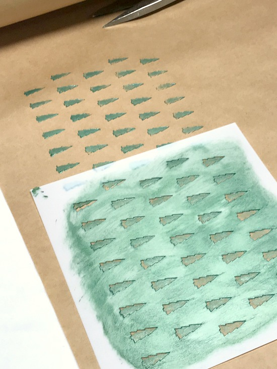 How to Stencil Christmas Wrapping Paper with Old Sign Stencils. Homeroad.net