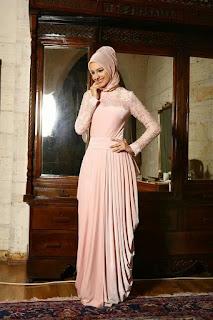 Model Baju Pesta Muslimah Brokat