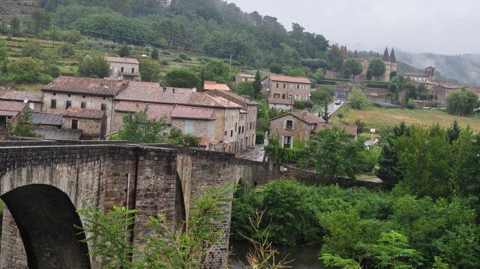 Vue du village de Chambonas