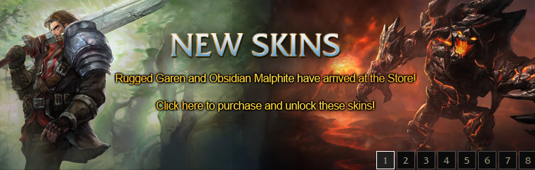 Rugged Garen And Obsidian Malphite Now Available