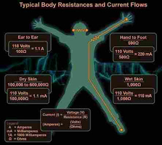 What is the human body resistance?