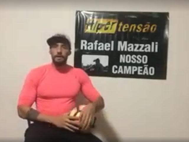Rafael Mazzali faz desabafo em vídeo sobre boatos a respeito de sua perda de peso. Foto: Reprodução