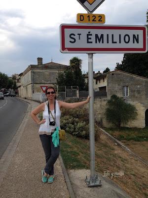 Letrero de entrada en Saint-Emilion