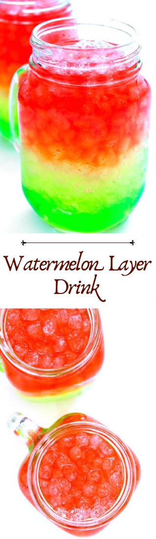 Watermelon Layer Drink #healthydrink #easyrecipe