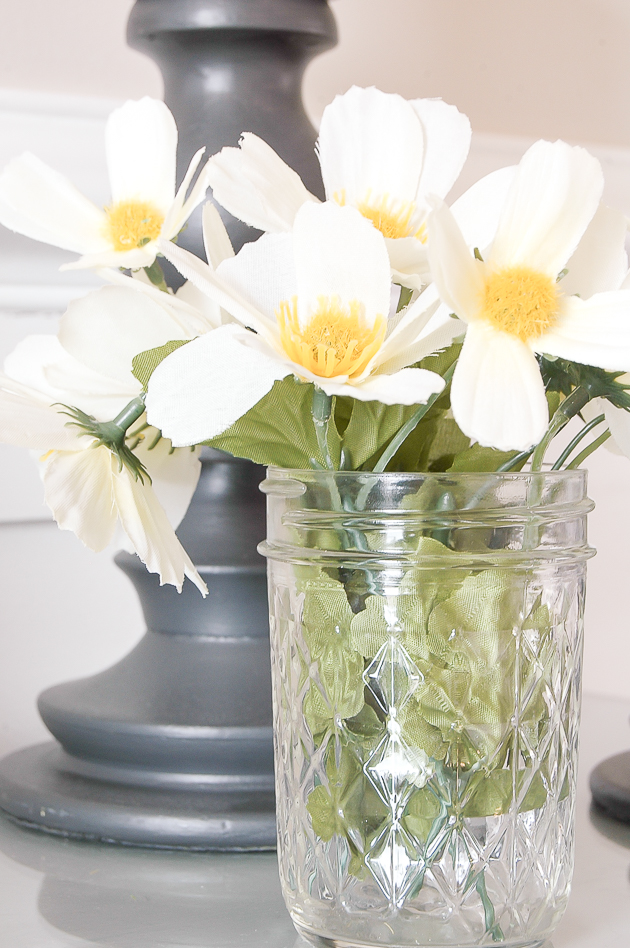 Decorating with Dogwood blooms from Dollar Tree